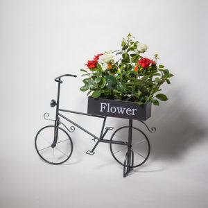 polkupyörä kukkalaatikolla | puutarhakoriste | viherviisikkokauppa.fi